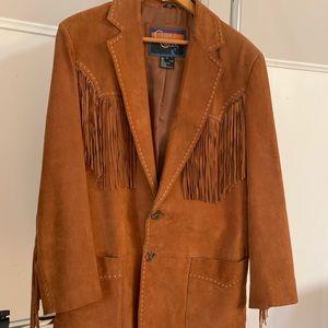 Women/men Suede fringe jacket from Cripple Creek.